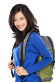 Attractive young happy student with bag royalty free stock images