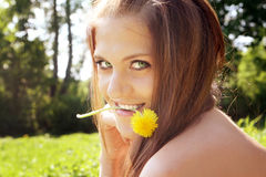 Attractive young hippie girl Stock Image