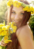 Attractive young hippie girl Stock Photo