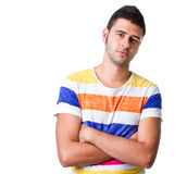 Attractive young hispanic man Stock Photography