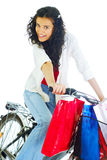 Attractive young lady with shopping bags Stock Image