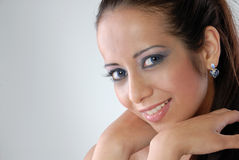 Attractive young lady smile Stock Image