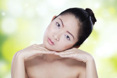 Attractive young lady with soft skin Royalty Free Stock Images