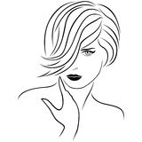 Attractive young lady with stylish short hairstyle Royalty Free Stock Photography