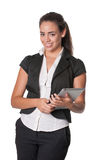 Attractive young lady using tablet computer Stock Photography