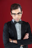 Attractive young male with glasses Royalty Free Stock Photography