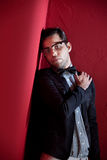Attractive young male with glasses Stock Photography