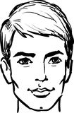 Attractive young man. Sketch vector illustration Stock Photo