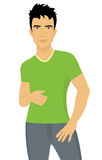 Attractive young man. A vector illustration of an attractive young man Stock Images