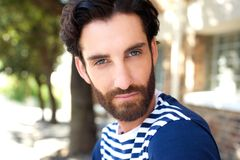 Attractive young man with beard Royalty Free Stock Photography