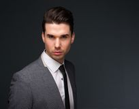 Attractive young man in business suit Royalty Free Stock Photography