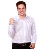 Attractive young man celebrating his victory Stock Image