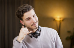Attractive young man doing Stock Image