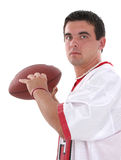 Attractive Young Man In Football Jersey with Stock Photos