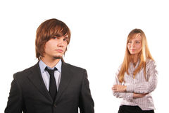 Attractive young man and girl Royalty Free Stock Photos
