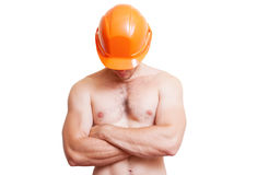 Attractive young man in a helmet, Stock Photography