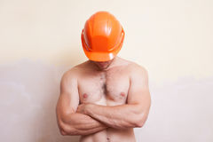 Attractive young man in a helmet Stock Image