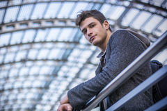 Attractive young man inside modern building Stock Photography