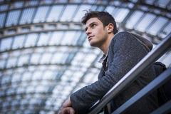 Attractive young man inside modern building Stock Image