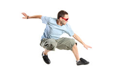 Attractive young man jumping Royalty Free Stock Images