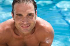 Attractive Young Man in Pool Royalty Free Stock Images