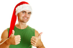 Attractive young man santa Royalty Free Stock Photography