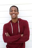 Attractive young man smiling Royalty Free Stock Photos