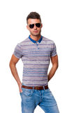 Attractive young man in sunglasses Stock Image