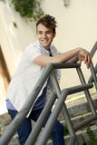 Attractive young man in urban background Stock Photo