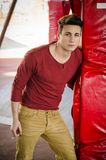 Attractive young man in urban environment Royalty Free Stock Image