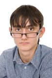 Attractive young man wearing glasses Royalty Free Stock Photography