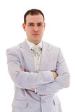 Attractive young man in wedding suit Royalty Free Stock Photos