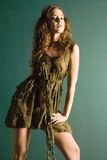 Attractive young model in couture dress Stock Photo