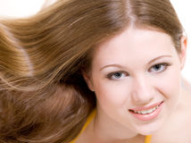 Attractive young model with long hair Royalty Free Stock Image