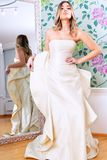 Wedding dress model. Stock Photography