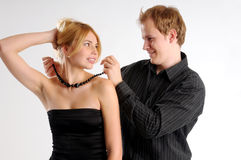 The attractive young pair Stock Images