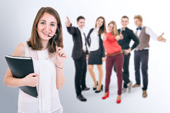 Attractive young people portrait Royalty Free Stock Image