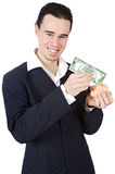 Attractive young person businessman Stock Image