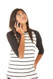 Attractive young polynesian girl talking on cell p Royalty Free Stock Photos