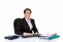 Attractive young secretary Royalty Free Stock Images