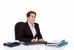 Attractive young secretary Stock Photo