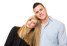 Attractive young student couple. Stock Photos