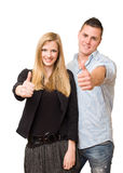 Attractive young student couple. Royalty Free Stock Images