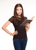 Attractive young student girl. Royalty Free Stock Photography