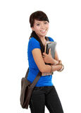 Attractive Young Student Holding Books. Royalty Free Stock Images