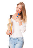 Attractive young student. Royalty Free Stock Photos