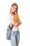 Attractive young student. Royalty Free Stock Images