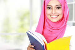 Attractive young student studying Royalty Free Stock Photo
