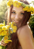 Attractive young summer girl Royalty Free Stock Image