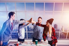 Success and teamwork concept royalty free stock images